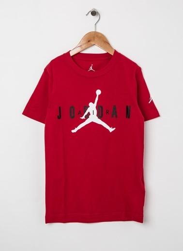 Nike Nike 82955175BRA Bisiklet Yaka Baskılı Günlük TShirt Kırmızı